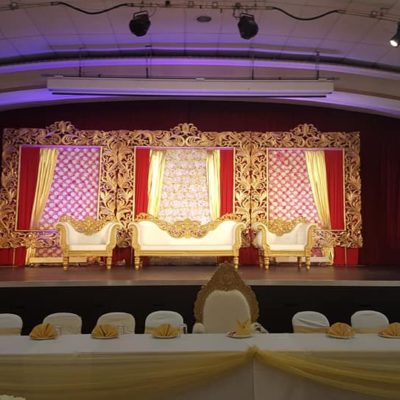Stage set for a wedding
