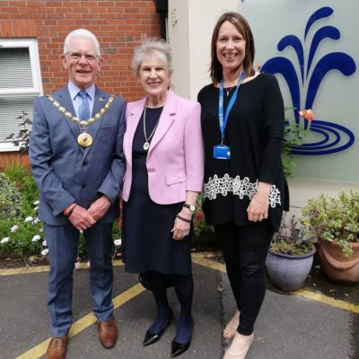 Mayor Visiting St Luke's Hospice - Click to open full size image