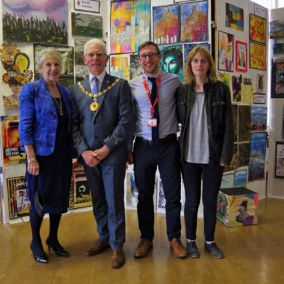 Mayor And Consort At Malbank Art Exhibition