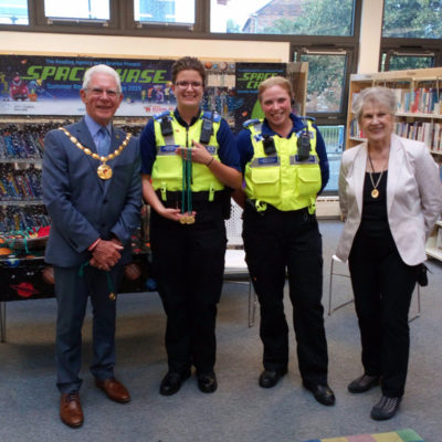 Mayor And Consort At Nantwich Library