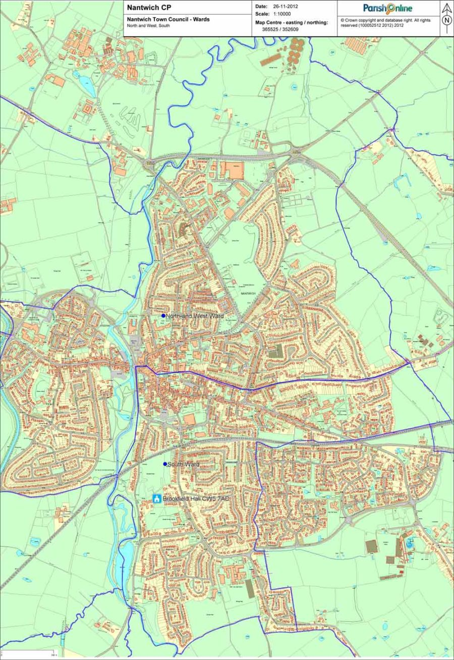 Nantwich Town Council Boundary Map