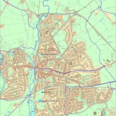 Nantwich Town Council Wards Map - Click to open full size image