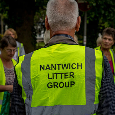 A Nantwich Litter Group Volunteer