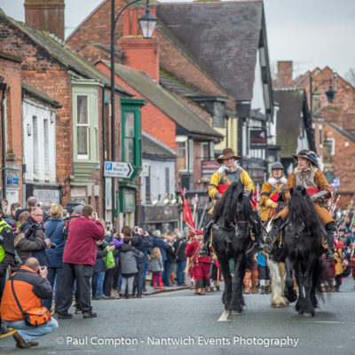 Battle Of Nantwich Parade Along Welsh Row