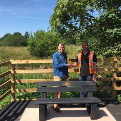 Bench Installation By Partnership - Click to open full size image