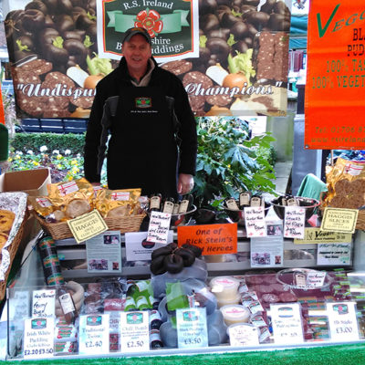 Black Pudding Stall On Farmers Market