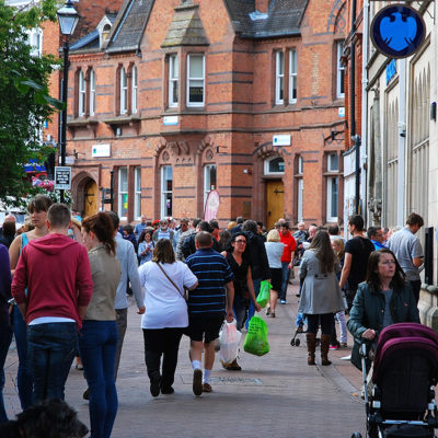 Busy Town Centre - Click to open full size image