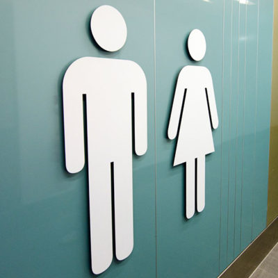 Comfort Scheme Toilet Sign