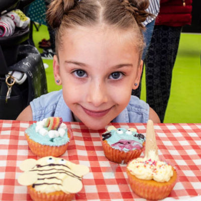 Cupcake Decorating At Food Festival