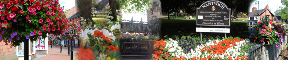 Montage Of Nantwich In Bloom Displays