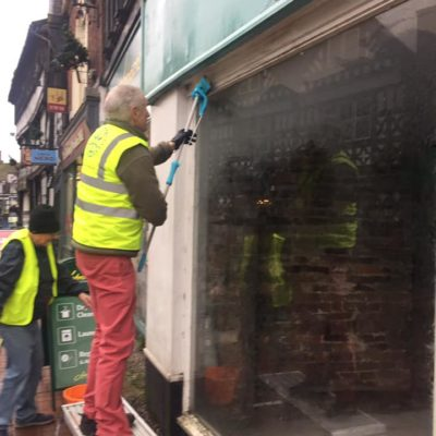 Nantwich Civic Society Cleaning Windows