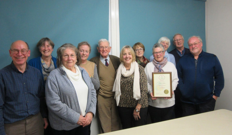 Nantwich In Bloom Team With Award