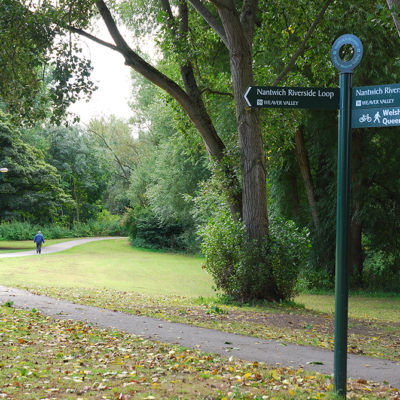 Nantwich Loop Walk Pathway - Click to open full size image