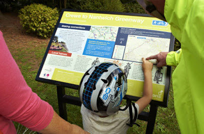 People Looking At Greenway Map - Click to open full size image
