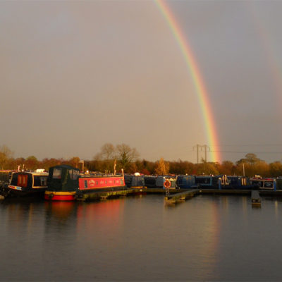 Rainbow Over Swanley Bridge Marina