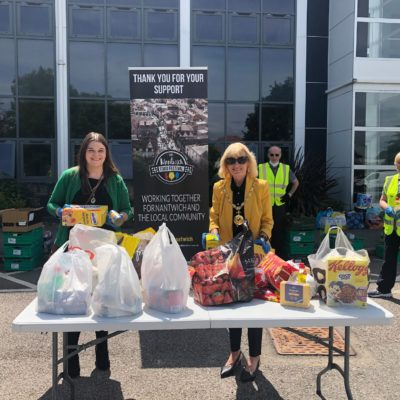Mayor Collecting For Nantwich Food Bank