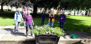 Volunteers busy in the town
