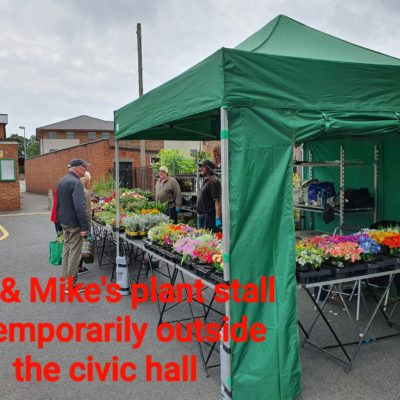 Plant Stall Outside Nantwich Civic Hall