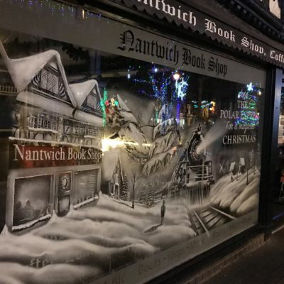 Bookshop Christmas Window - Click to open full size image