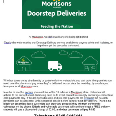 Morrisons Doorstep Deliveries - Click to open full size image