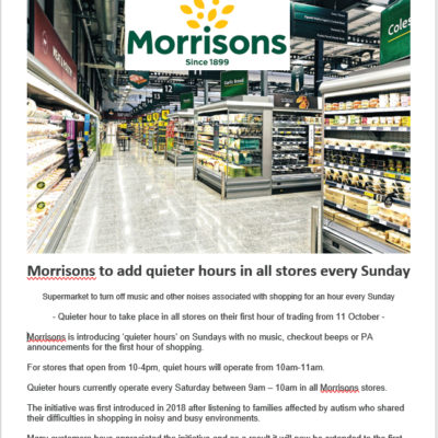 Morrisons Quieter Hours - Click to open full size image