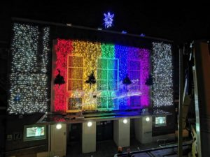Nantwich Civic Hall Christmas Lights 2020