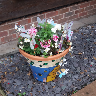 Pot Decorated And Planted By Richmond