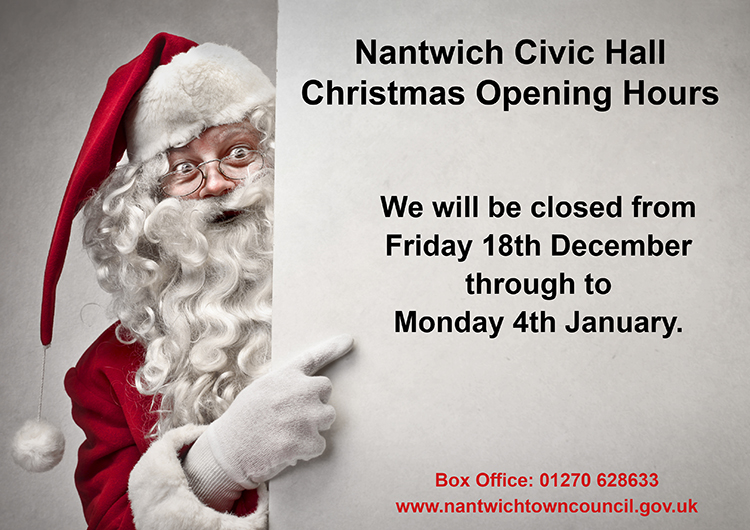 Christmas Opening Hours 2020 Civic Hall