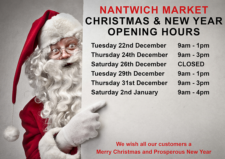 Christmas Opening Hours 2020 Market Hall