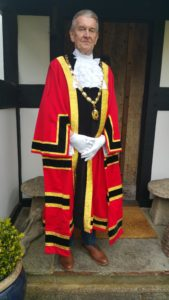 Councillor Stuart Bostock In Mayoral Robes