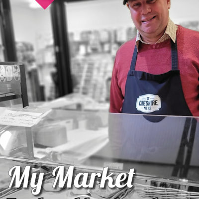 Market Trader Selling Fresh Pies