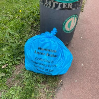 Nantwich Litter Group Bag Of Rubbish