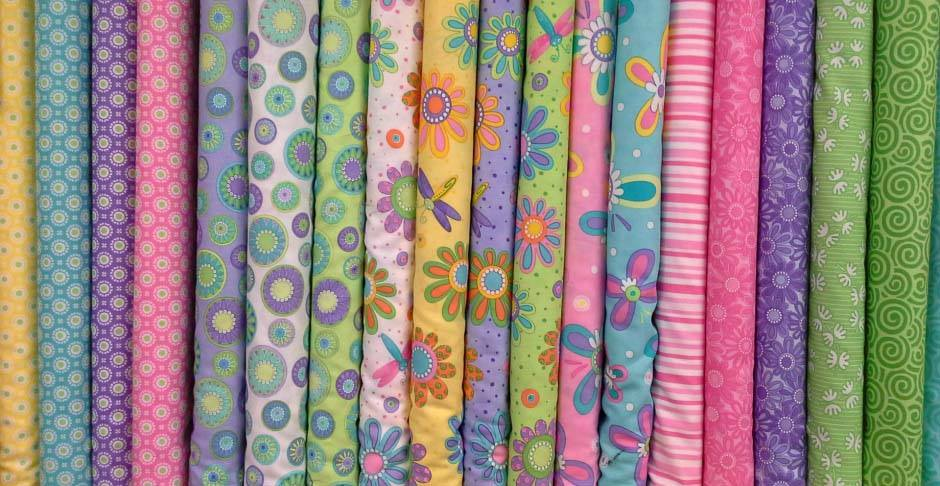 Image of various fabrics